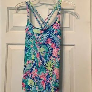 Lilly Pulitzer workout tank mermaids cove